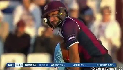 Afridi scores quick 34 in Derbyshire Natwest T20 Blast 2015