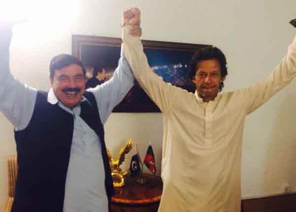 Celebration at Bani Gala after NA-154 verdict