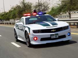 Dubai Police adds Chevrolet Camaro SS to its fleet of vehicles