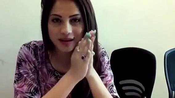 Pakistani actress Neelum Munir's video message