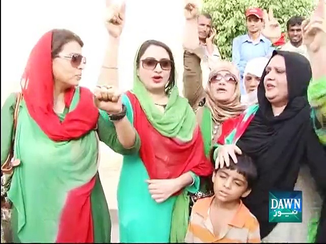 PTI workers celebrate NA-154 verdict