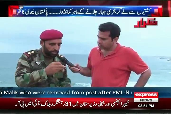 How commandos of Pakistan Navy survive in Water