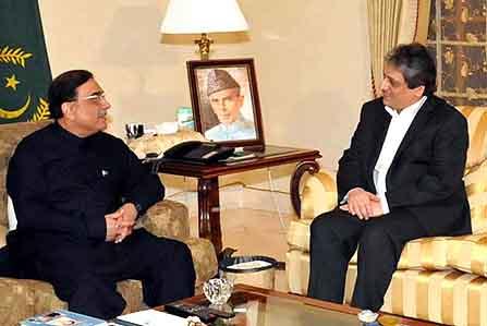 Zardari calls on Ishrat-ul-Ibad in Dubai