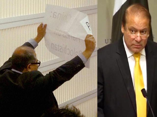 Nawaz Sharif heckled by Baloch activist in US