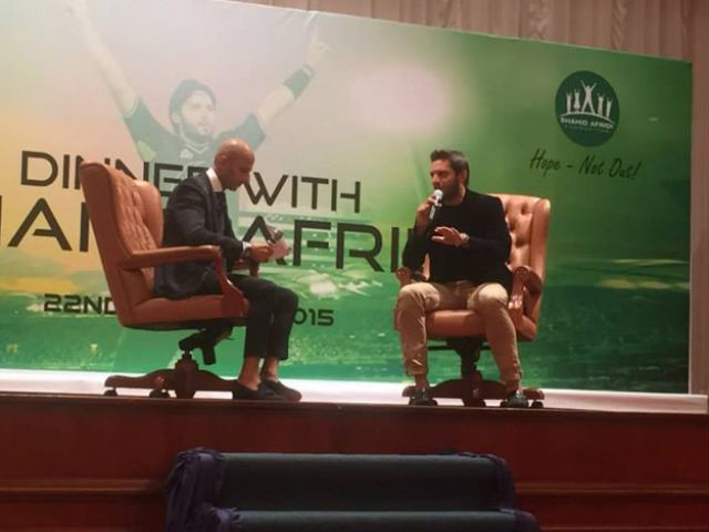 Afridi raises Rs10m for charity at Bahrain auction