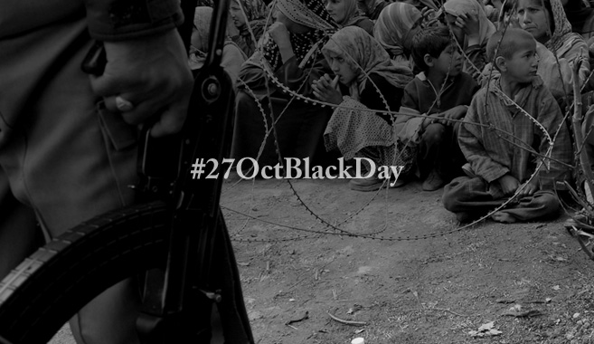 Kashmiris observing Black Day against Indian occupation