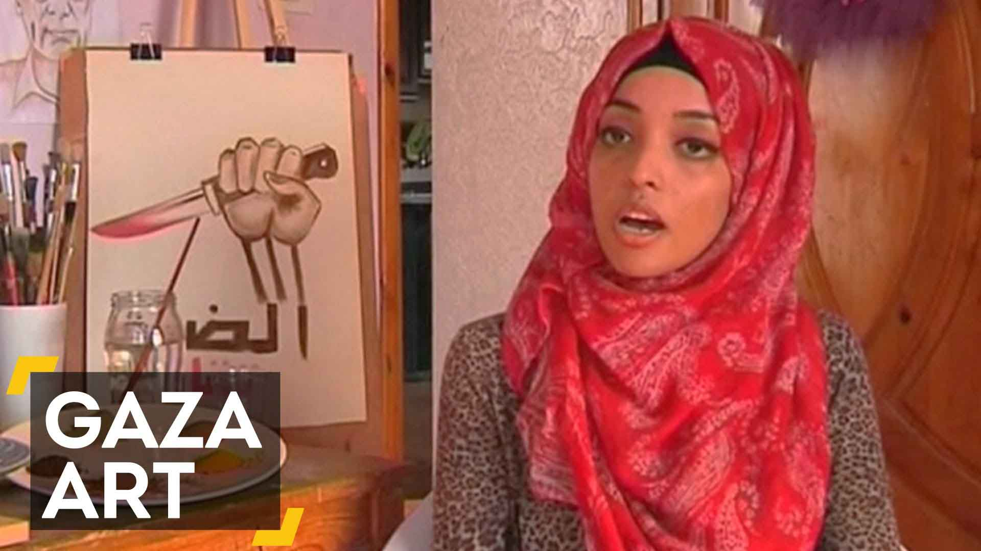 Gaza artist uses fruit, spices to paint
