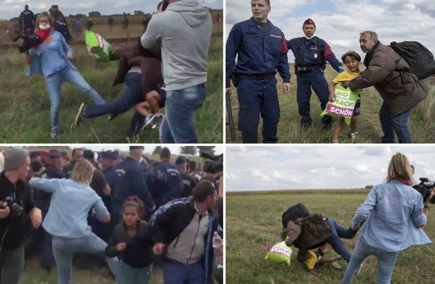 Hungarian camerawoman sues a refugee