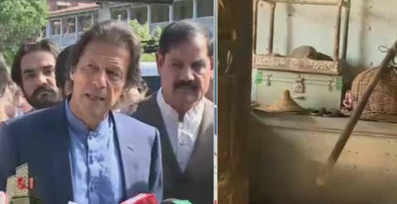 Imran Khan visits Lady Reading Hospital