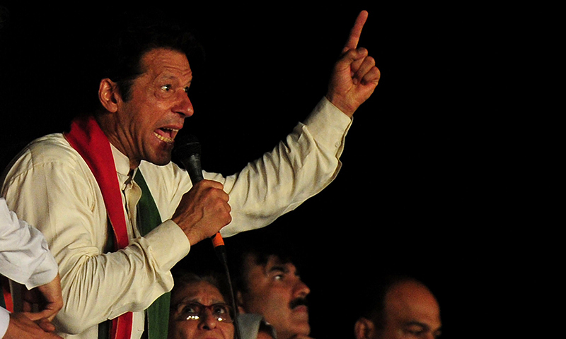 Imran Khan gets irritated by worker's uproar