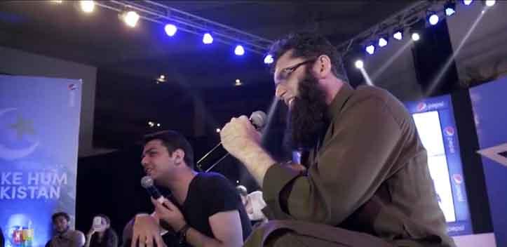 Junaid Jamshed sings at LUMS