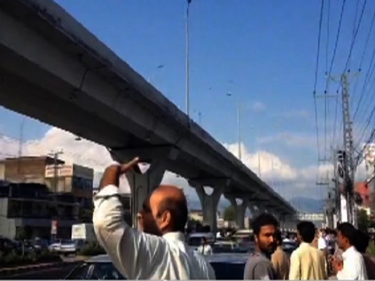 Earthquake shakes Rawalpindi Metro bridge