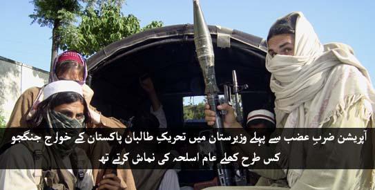 Taliban's control in NW prior Zarb-e-Azb