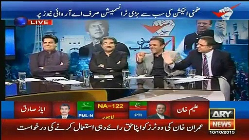 Battle of words between Raulf Klasra  and Arshad Sharif