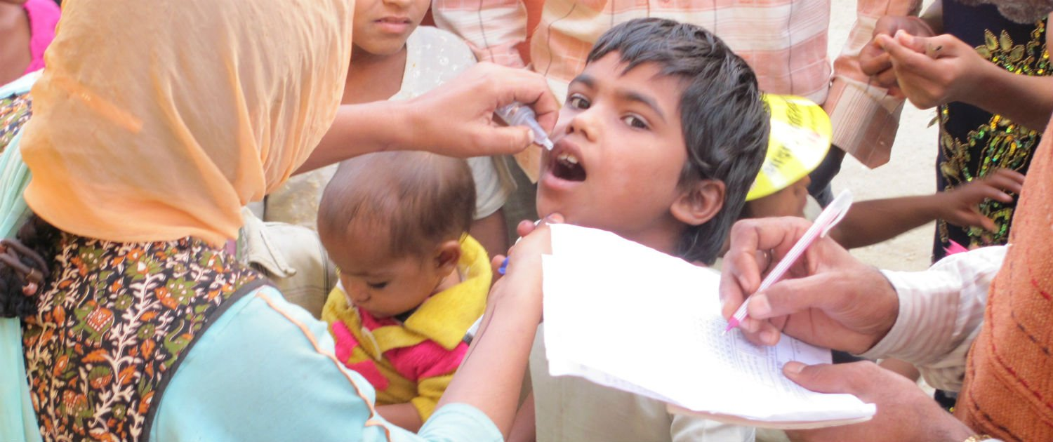 A child with Polio child escapes disability