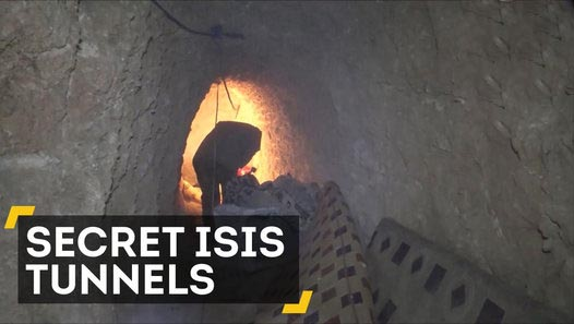 ISIS used tunnels to hide from airstrikes