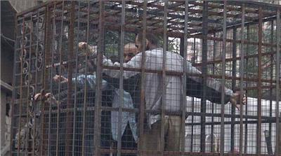 Prisoners used as human shields