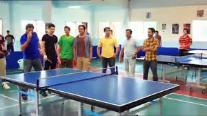 Shahid Afridi bowling on Table Tennis court!