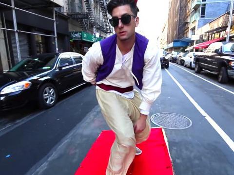 Aladdin on a Magic Carpet in NYC