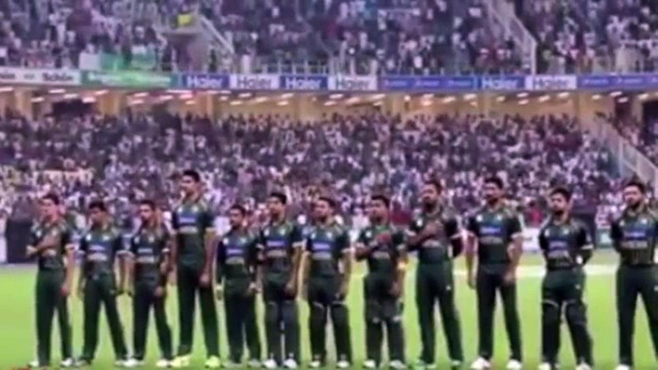 Pakistan National Anthem by Pakistan Cricket Team