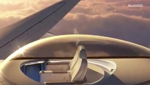 Company designs seating area above airplanes