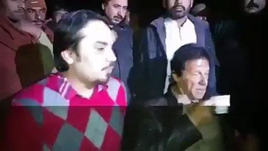 Imran Khan having tea at 'Dhaba'