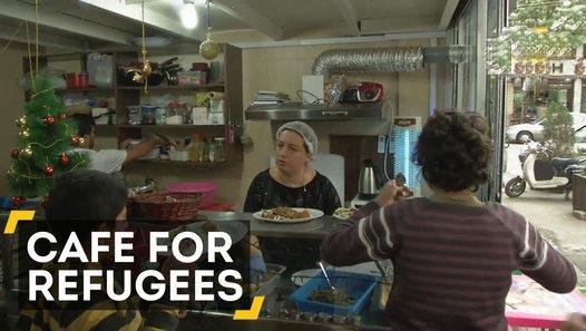 Cafe in Beirut serves free food
