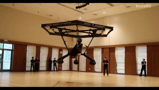 Students build a working personal flying machine