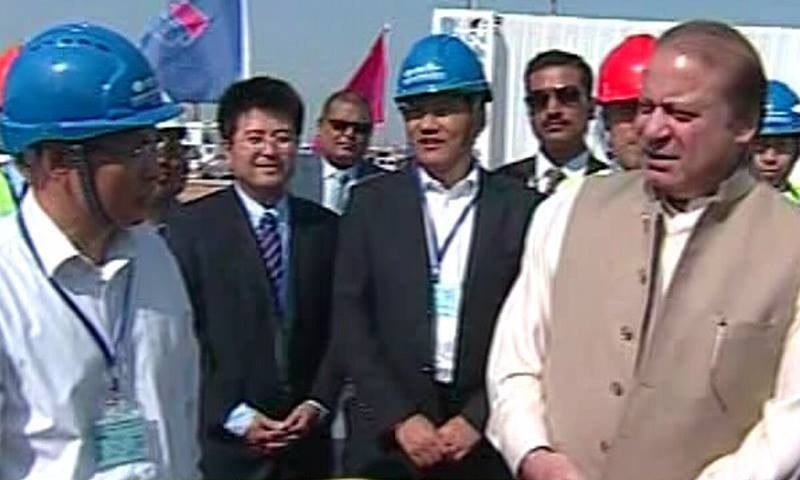 PM Nawaz visits Port Qasim