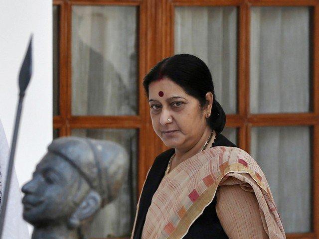 Indian FM Swaraj to arrive Pakistan
