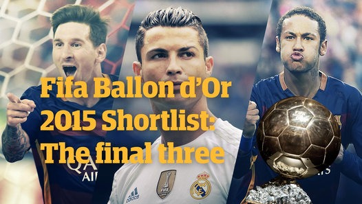 Ballon d'Or 2015 shortlist: Messi, Ronaldo and Neymar