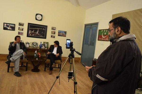 Imran Khan's live session on FB