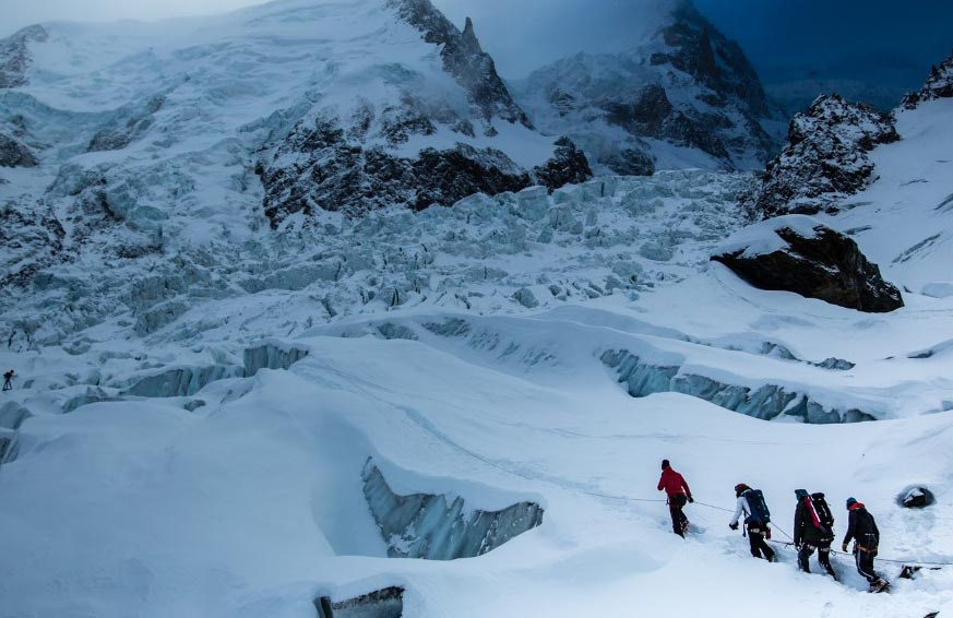 Glaciers in French Alps melting fast