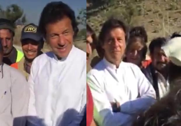 Imran Khan mingles with common people
