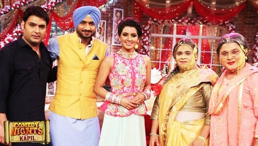 Harbhajan & Geeta in Comedy Nights With Kapil