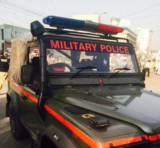 Millitary Police officers killed in Karachi