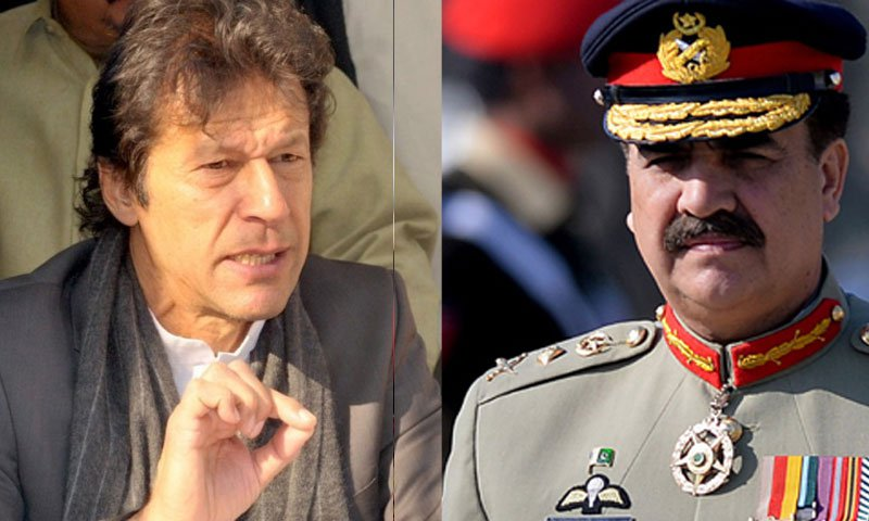 Imran praises Raheel Sharif in India