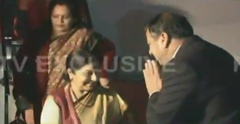 Sushma Swaraj arrives in Islamabad
