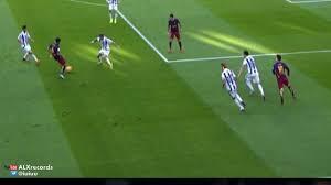 Messi fantastic piece of skill! Barca v Sociedad