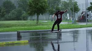 Skating in a Sudden Rainstorm with Fabian Dörig