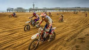 Mass Dirt Bike Racing on Hague Beach | Red Bull Knock Out