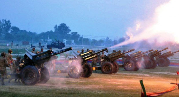 Cannon-salute on Eid Milad-un-Nabi