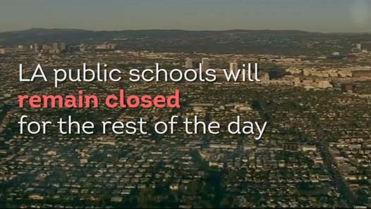 Threat closes 900 LA schools