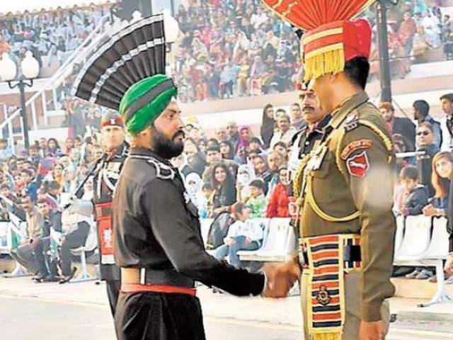 Sikh Takes Part In Beating Retreat At Wagah Border