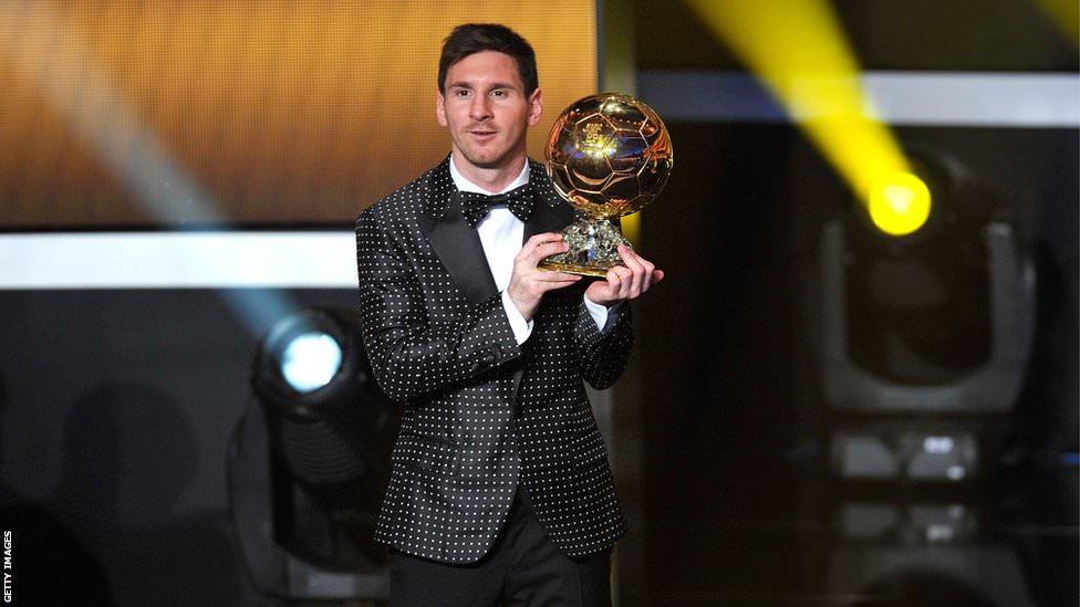 Lionel Messi wins the 2015 Fifa Ballon d'Or