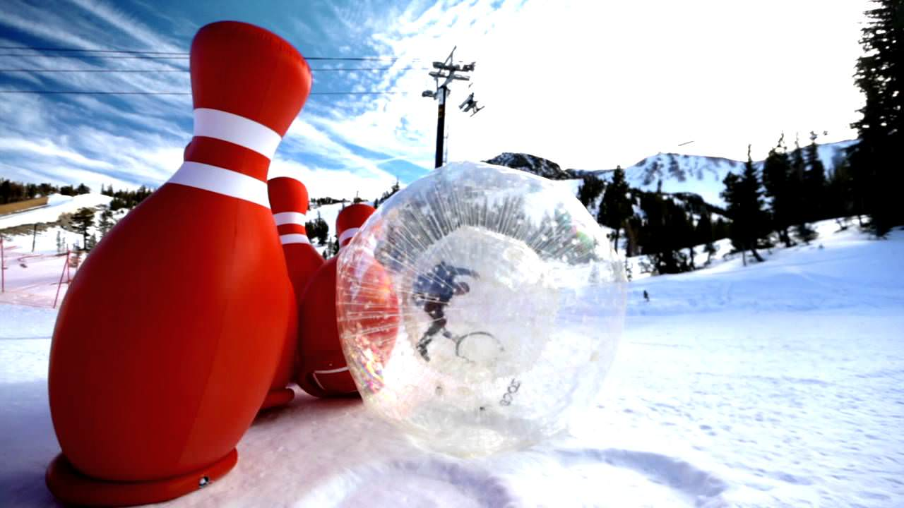 Epic Human Sized Snow Bowling Party
