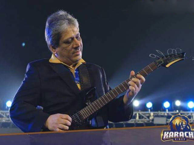 Ishrat-ul-Ibad Plays Guitar