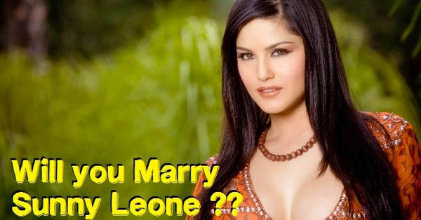 People's view about marrying with Sunny Leone