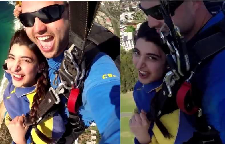 Watch Urwa Hocane Doing Sky Diving