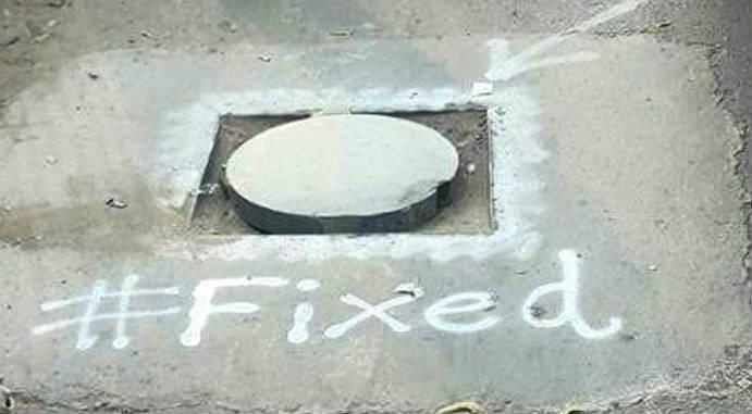 Alamgir Khan has Fixed 42 Manholes on University Road